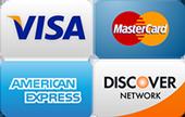 We accept all credit cards for garage door repair