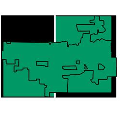 Area map of door repair service in Algonquin, IL