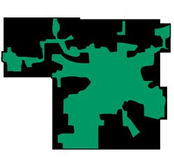 Area map of door repair service in Crystal Lake, IL