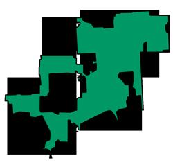 Area map of door repair service in Darien, IL