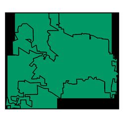 Area map of door repair service in Elgin, IL