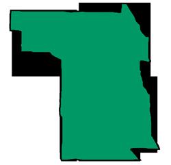 Area map of door repair service in Evanston, IL