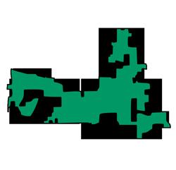 Area map of door repair service in Hoffman Estates, IL