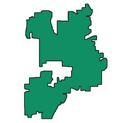 Area map of door repair service in Naperville, IL