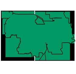 Area map of door repair service in Northbrook, IL