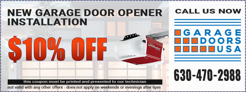 Garage door opener coupon in Lake Zurich, IL