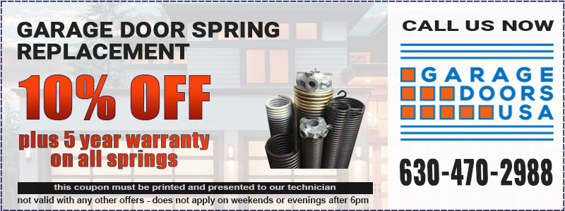 Garage Door Spring Repair Coupon in Naperville, IL